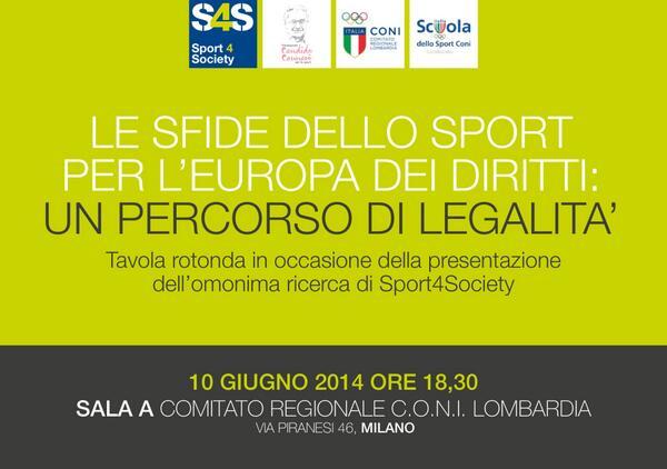 LO SPORT PER L'EUROPA DEI DIRITTI, Tavola rotonda di Sport4Society